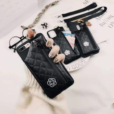 零钱包小香风OppoA8手机壳a5女款A3挂脖a92s软胶R9s皮套k3支架R11