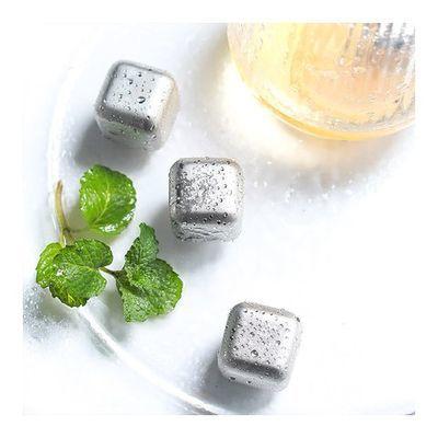不化冰冰镇饮料抖音送冰夹304不锈钢冰块金属冰酒石速冻钢威士忌