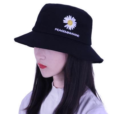 小雏菊渔夫帽子女夏天甜美可爱ins韩版学生百搭遮阳太阳防晒盆帽