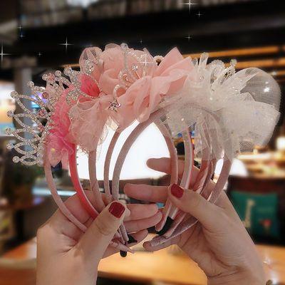 韩国儿童女宝宝皇冠头饰女童公主小女孩蕾丝水钻头箍韩式发箍发卡