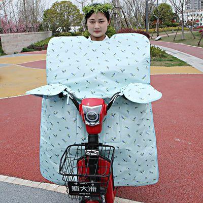电动车挡风被夏季遮阳防晒加大薄款女踏板摩托车挡风罩加大防雨水