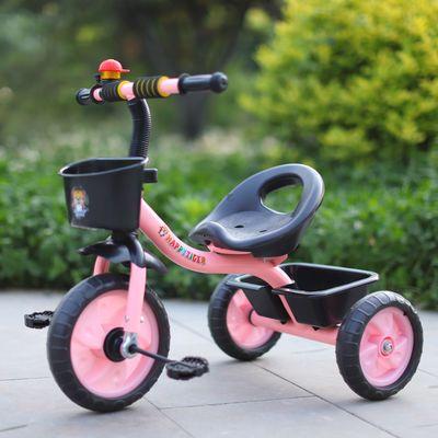 儿童三轮车脚踏车 童车1-3-5男孩女孩三轮车带斗车正品三轮车推车