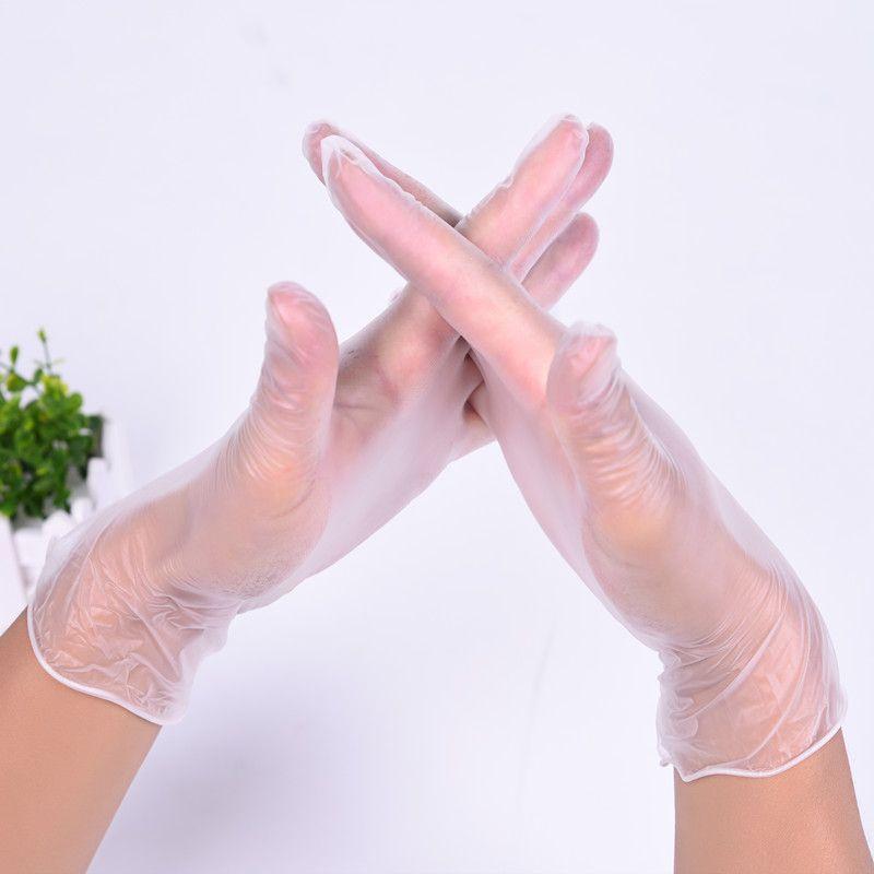 一次性手套薄款食用万力家务蓝无粉防护餐饮塑胶透明塑料美容美发