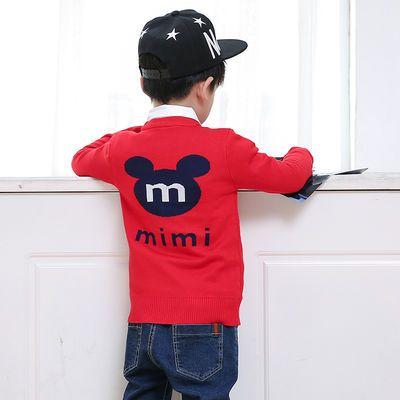 儿童毛衣长袖新款韩版3男童2岁宝宝纯棉开衫6毛线针织5秋款7上衣
