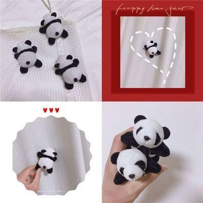创意可爱趴趴熊立体公仔玩偶胸针包包装饰软萌卡通熊猫别针闺蜜礼