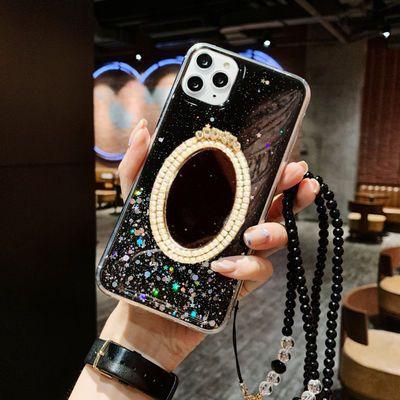 华为nova7se6/5/4/3荣耀8x手机壳9x镜子20s挂绳p30畅享10s女9plus