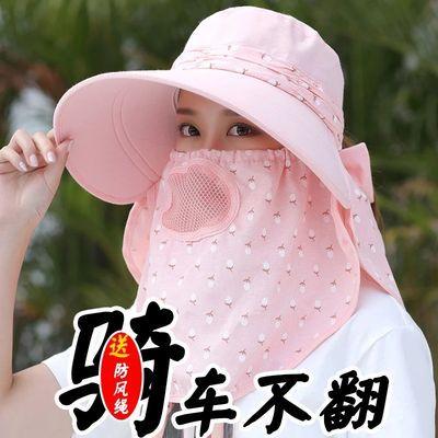 。环卫防晒帽轻便大帽檐套装大头围遮阳大前沿帽弯檐帽子室外工作