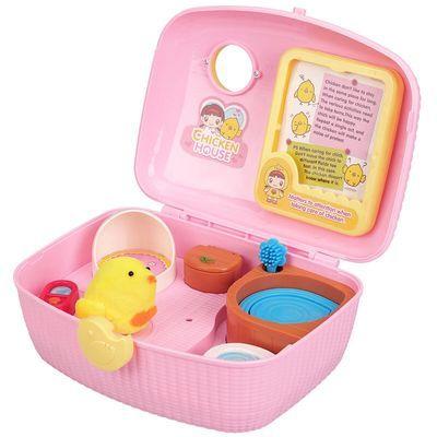 快乐可爱小鸡养成屋仿真动物玩偶过家家小伶玩具宠物女孩生日礼物