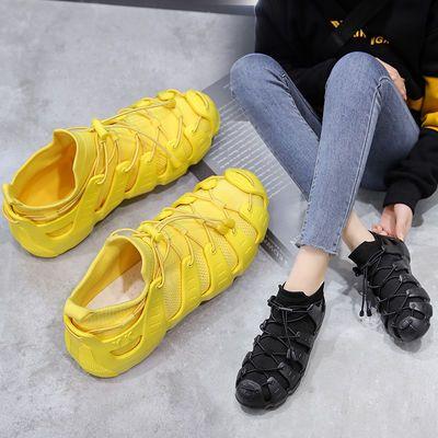 八爪鱼套袜鞋网面轻便透气运动鞋女2020夏新款老爹鞋女百搭休闲鞋