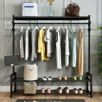 简易衣柜衣橱家用收纳储物柜宿舍出租房卧室落地组装收纳架挂衣柜