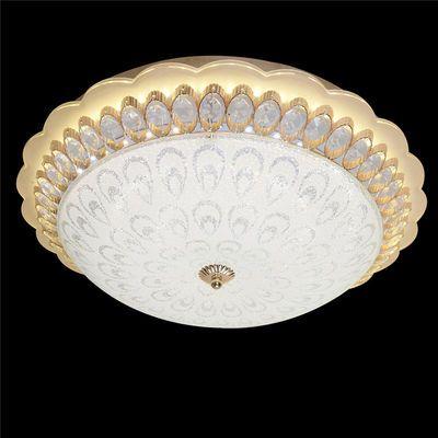 LED吸顶灯圆形卧室灯客厅灯房间灯欧式客房餐厅灯水晶婚灯具灯饰