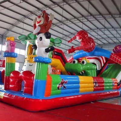热卖儿童充气城堡室外大型滑梯小淘气堡广场设备户外游乐园蹦蹦床