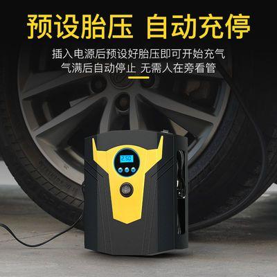 热卖车载充气泵便捷式汽车用小轿车电动车轮胎打气泵12V打气筒大