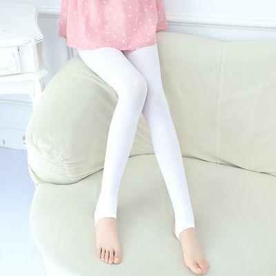 袜子薄款打底裤舞蹈儿童色舞防滑袜款儿天鹅裤袜女童鹅绒踩脚白色