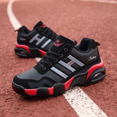 防滑气垫动鞋跑步鞋运动防滑洞洞鞋加绒学生男鞋鞋男运动鞋棉鞋