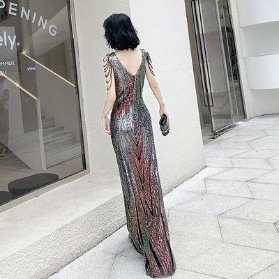 晚礼服女2019新款宴会气质高贵优雅晚装高端气场女王主持鱼尾长裙