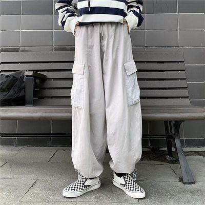薄/厚工装裤男女秋冬季新款宽松韩版学生嘻哈裤子原宿BF风休闲裤