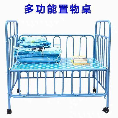 热卖婴儿床铁床宝宝游戏床新生BB床儿童床带蚊帐带滚轮多功能铁艺
