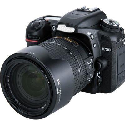 网红JJC 适用尼康HB-32遮光罩D7500 D7100 D5300 D7200 AF-S 18-1