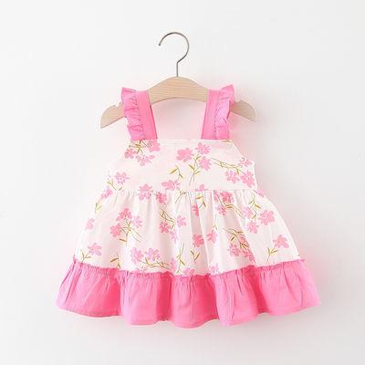 女宝宝连衣裙夏季新款小女孩无袖公主裙洋气0-1-3岁2婴儿裙子纯棉