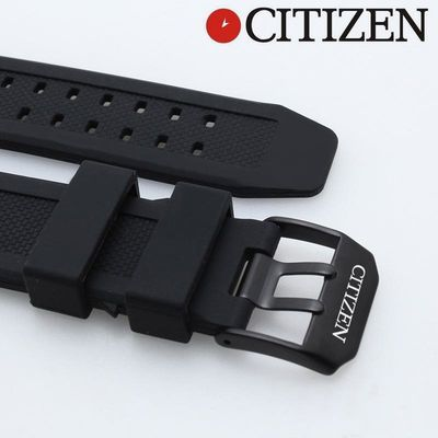 代用西铁城手表带JY8035-04E防水硅胶运动潜水橡胶表带配件23mm