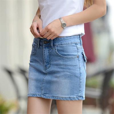 高腰性感牛仔短裙女夏季新款一步裙修身显瘦半身裙学生韩版包臀裙