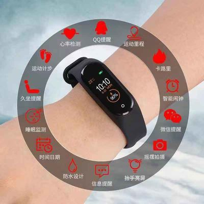 新款m5蓝牙通话智能手环带扬声器蓝牙听歌心率接打电话多运动