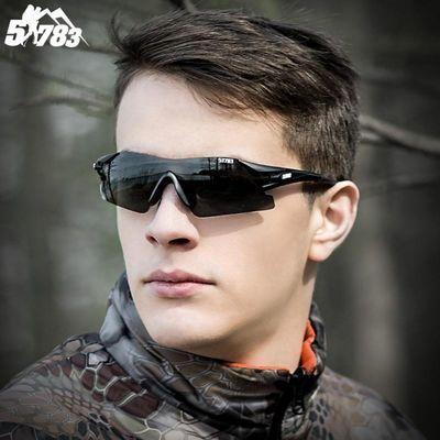?户外钓鱼眼镜看漂专用偏光增晰镜真人cs水弹护目镜骑行风墨镜