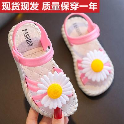 女童凉鞋2020夏季新款儿童小女孩软底防滑菊花网红中大童公主童鞋