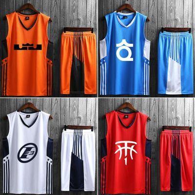 篮球服套装男詹姆斯23号球衣男定制儿童训练服库里科比欧文球衣