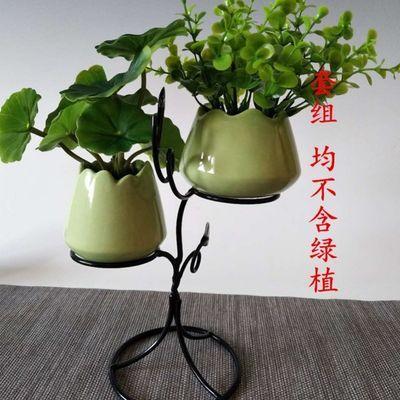 创意陶瓷铁艺小花瓶家居软装花器水培绿萝花盆客厅小清新花插摆件