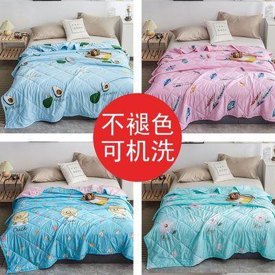 【可裸睡】特价抢水洗棉夏凉被空调被薄被子单双人床单学生宿舍被