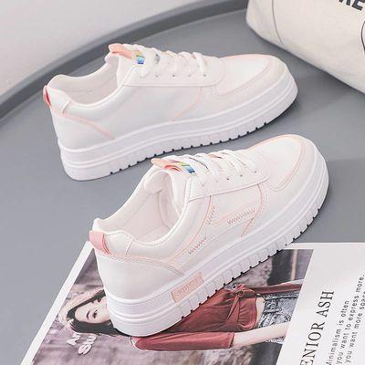 小白鞋女2020夏季新款韩版学生百搭休闲爆款鞋子女潮鞋皮面秋鞋