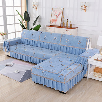 欧式四季通用沙发垫薄款防滑坐垫复合面料沙发垫