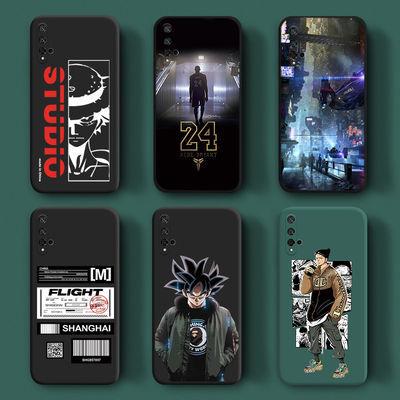 荣耀20手机壳9x液态硅胶9xpro男卡通海贼王20i镜头全包华为手机套