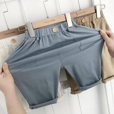 男童短裤夏装七分护膝裤韩版三色时尚潮流风男童七分弹力透气裤