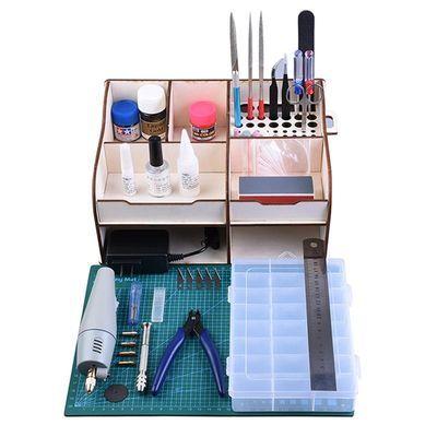 高达拼装模型工具套装 剪钳笔刀镊子打磨条组合军事模型新手制作