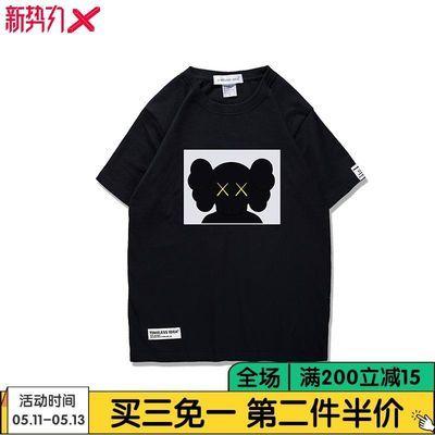 2020年夏装情侣贴布新款 ws芝麻街短袖T恤国潮联名宽松男陈冠希