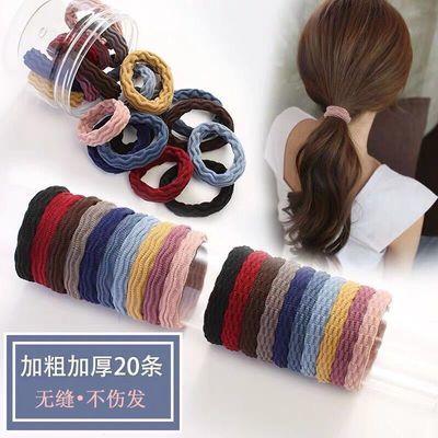 韩国新款简约发绳皮筋加粗耐用无缝接不伤发高弹力发圈头绳森女系