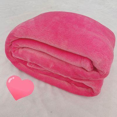 四季被子毯子纯色毛毯法兰绒床单沙发薄珊瑚绒素色毯子盖毯空调毯