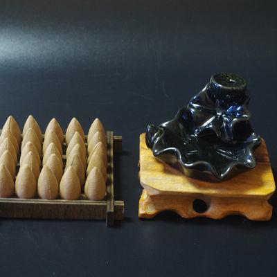 倒流香炉新款家用观赏檀香香薰创意迷你小型摆件香道茶道禅意陶瓷