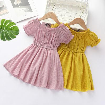 2020夏季新款女童褶皱裙子儿童公主纯棉连衣裙可爱甜美百褶裙时尚