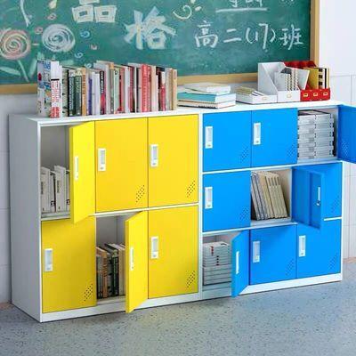 彩色储物柜学生书包柜舞蹈教室存包柜换衣柜鞋柜单个带锁小矮柜子
