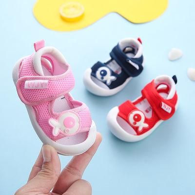 夏季宝宝凉鞋婴儿学步鞋0-1-3岁男女防滑软底公主鞋透气贴肤凉鞋