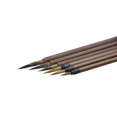 初学工笔画6支套装画画毛笔绘画 狼毫白描鼠须勾线笔衣纹笔国画笔