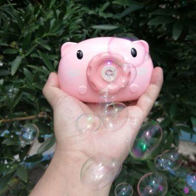 泡泡机泡泡猪相机抖音泡泡相机儿童玩具充电网红电动相机泡泡水枪