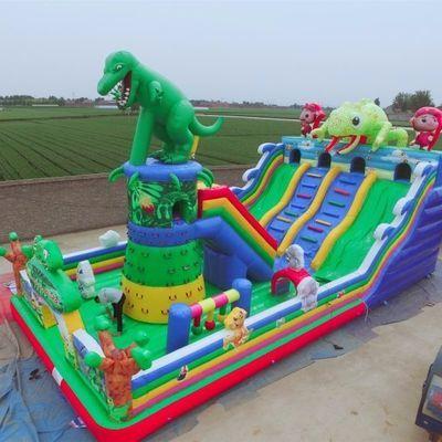 厂家直营儿童城堡玩具充气蹦蹦床滑梯大型充气城堡室外大型淘气堡
