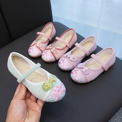 汉服女童绣花鞋民族风女孩布鞋古装古风手工鞋中国风老北京女童鞋