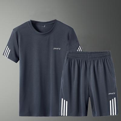 男装夏装运动套装男短裤两件套男士短袖t恤运动服休闲裤宽松套装