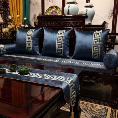 红木沙发坐垫新中式古典实木家具靠垫椅垫定做罗汉床防滑垫子定制